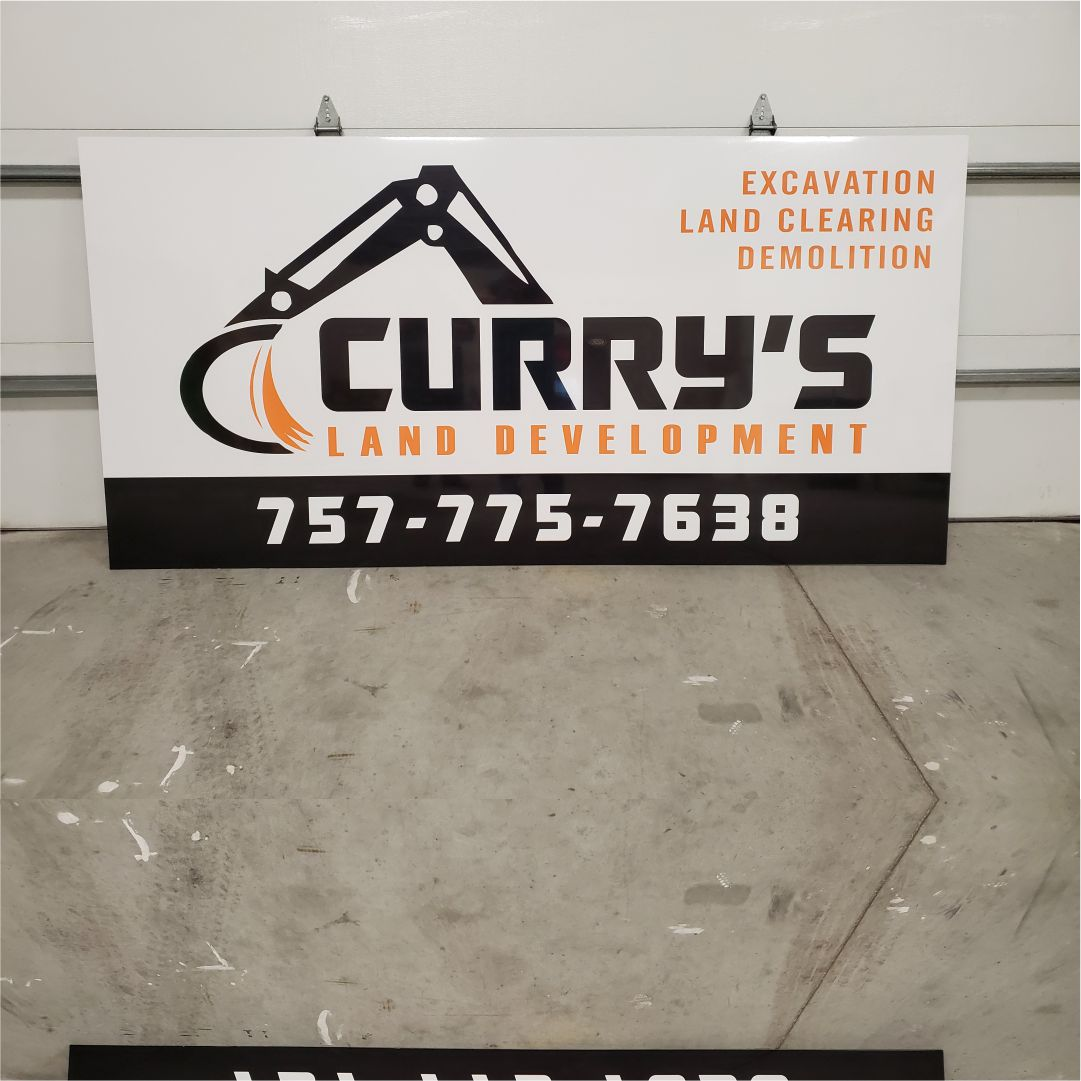 Curry's Development signs