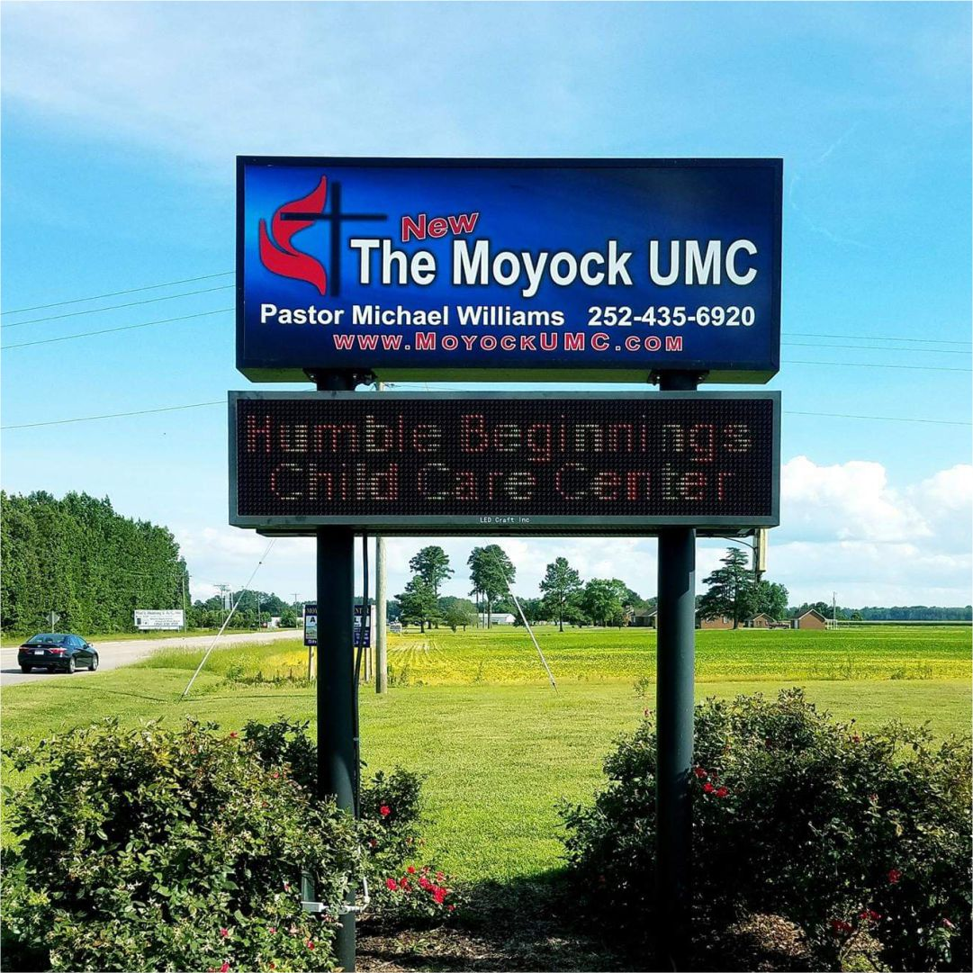Moyock UMC signs